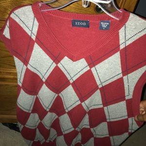 Izod Red, Blue, and Grey Argyle Sweater Vest